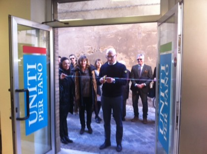 Inaugurata la sede della coalizione Uniti per Fano