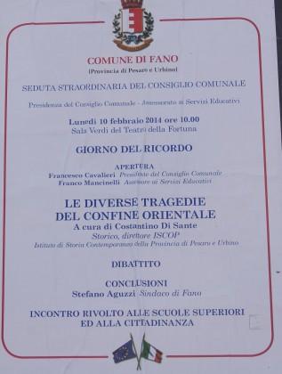 Il leghista Paolini: a Fano è vietato usare la parola Foibe