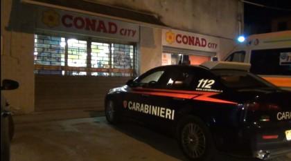 Rapina al supermercato Conad City di Carrara di Fano