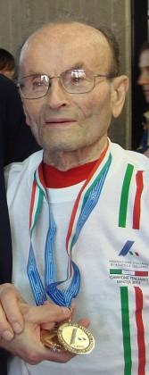 Atletica: a 98 anni Giuseppe Ottaviani di Sant'Ippolito vince 10 ori mondiali a Budapest