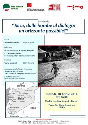 """Mostra fotografica a Fano, """"Siria, dalle bombe al dialogo: un orizzonte possibile?"""""""