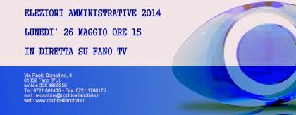Maratona elettorale su FanoTV