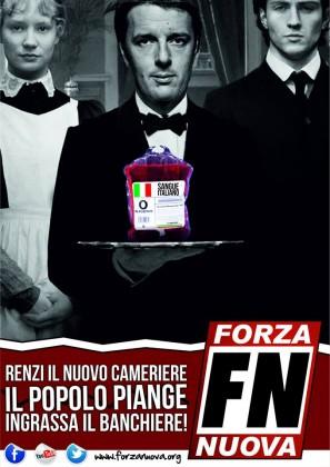Visita del premier Renzi a Pesaro. Pronta la contestazione di Forza Nuova