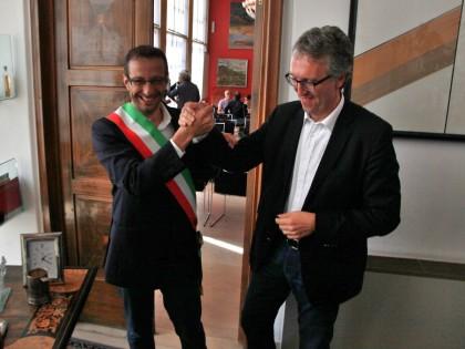 La prima fascia tricolore di Matteo Ricci  VIDEO