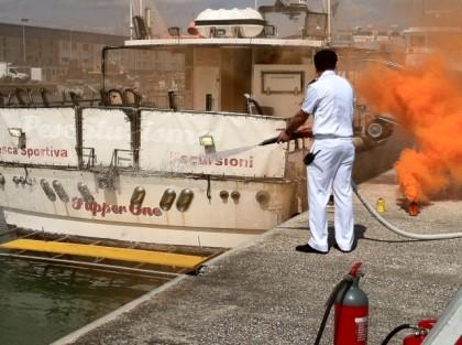 Esercitazione: incendio al porto di Fano