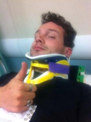 Incidente in moto, ferito il cantante Luca Vagnini