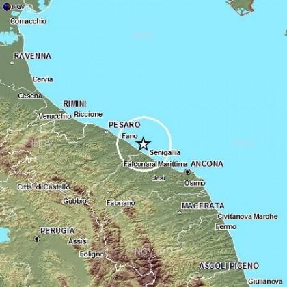Scossa di terremoto al largo di Marotta – Mondolfo