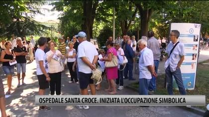 Ospedale Santa Croce, iniziata l'occupazione simbolica – VIDEO
