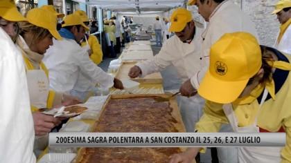 """200esima """"Sagra Polentara"""" a San Costanzo il 25, 26 e 27 luglio -VIDEO"""