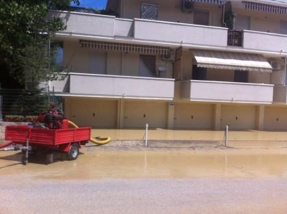 A Marotta e Ponte Sasso nuovi allagamenti causati dall'ultima bomba d'acqua