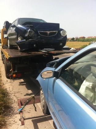 Fano, Scontro fra due auto in Viale Piceno
