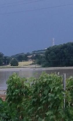 Bomba d'acqua su Fano. Zona Tombaccia-Caminate allagata. Case isolate