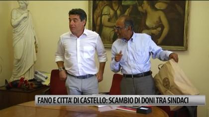 Fano e Citta' di Castello: scambio di doni tra sindaci – VIDEO