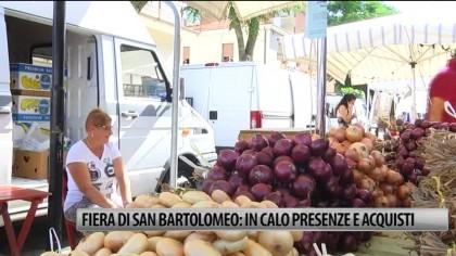 Fiera di San Bartolomeo: in calo presenze ed acquisti – VIDEO