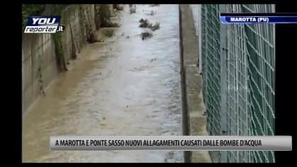 Allagamenti a Marotta e Ponte Sasso causati dall'ultima bomba d'acqua di giovedì 31 luglio – VIDEO