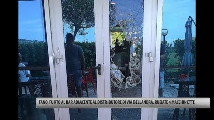 Fano, furto al bar adiacente al distributore di Via Bellandra. Rubate 4 macchinette – VIDEO