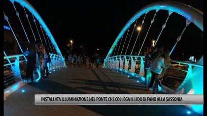 Installata illuminazione nel ponte che collega il Lido di Fano alla Sassonia – VIDEO