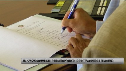 In Prefettura firmato protocollo d'intesa contro l'abusivismo commerciale – VIDEO