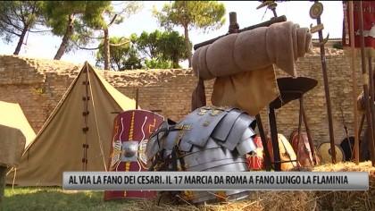 Al via la Fano Dei Cesari. Il 17 marcia da Roma a Fano lungo la Flaminia – VIDEO