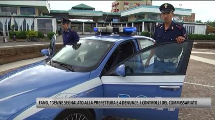Fano, 13enne segnalato alla Prefettura e 4 denunce. continuano i controlli del Commissariato – VIDEO