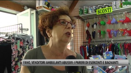 Fano, venditori ambulanti abusivi: i pareri di esercenti e bagnanti – VIDEO