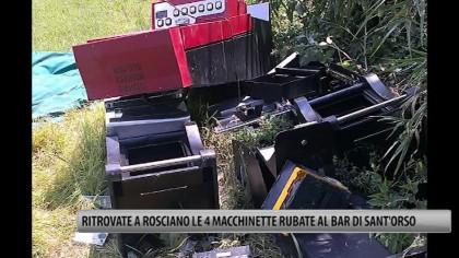 Ritrovate a Rosciano le quattro macchinette rubate al bar di Sant'Orso – VIDEO