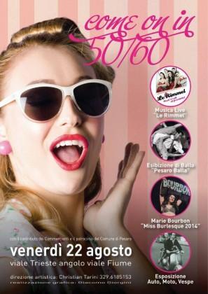 """""""Come on"""", il 22 agosto grande festa in perfetto stile anni '50 e '60 in Viale Trieste"""