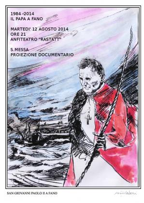 Papa: Pesceazzurro gli dona serigrafia visita Wojtyla 1984