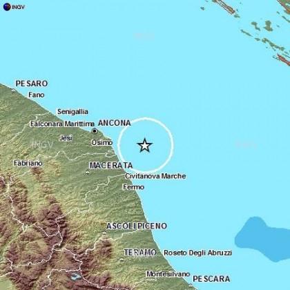 Scossa di terremoto ad Ancona di magnitudo 2.9