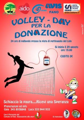 """""""Schiaccia la paura… ricevi una speranza"""": Volley – Day per la donazione"""