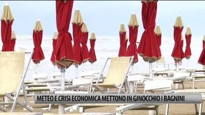 Meteo e crisi economica mettono in ginocchio i bagnini – VIDEO