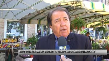 """Aeroporto, ultimatum di Drudi: """"Si alla pista o usciamo dalla Societa' """" – VIDEO"""
