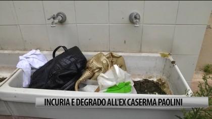 Incuria e degrado all'ex Caserma Paolini – VIDEO