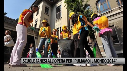 "Scuole fanesi all'opera per ""Puliamo il Mondo 2014"" – VIDEO"