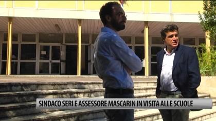 Sindaco Seri e Assessore Mascarin in visita alle scuole – VIDEO