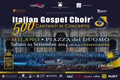 I cantanti dello Slave Song di Fano al concerto dell'Italian Gospel Choir
