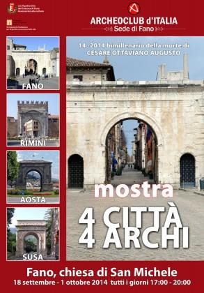 Quattro città unite da quattro archi: una mostra e un libro celebrano Augusto