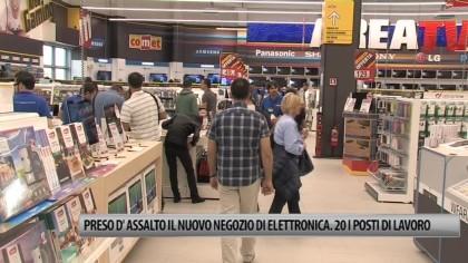 Preso d'assalto il nuovo negozio di eletronica. 20 i posti di lavoro – VIDEO