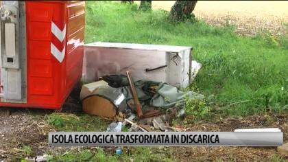 Isola ecologica trasformata in discarica – VIDEO