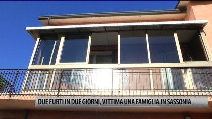 Due furti in due giorni, vittima una famiglia in Sassonia – VIDEO
