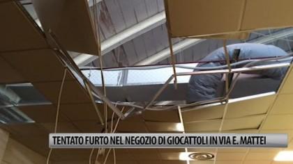 Tentato furto in un negozio di giocattoli in Via E. Mattei – VIDEO