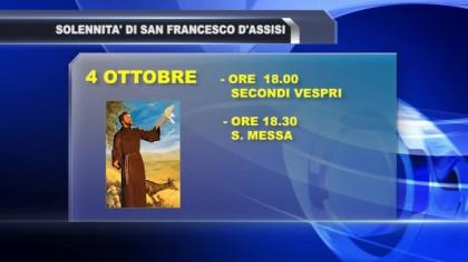 Celebrazione della Solennità di San Francesco d'Assisi