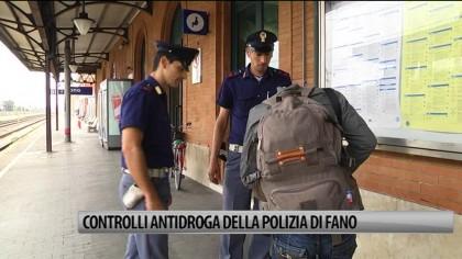 Controlli antidroga della polizia di Fano – VIDEO