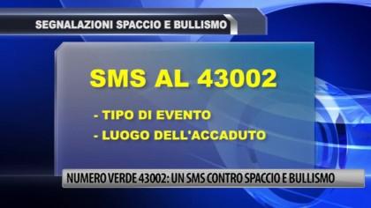 Numero Verde 43002: un sms contro spaccio e bullismo – VIDEO