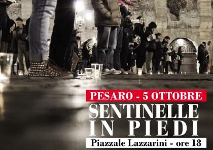 Domenica 5 ottobre Sentinelle in Piedi a Pesaro per difendere la libertà di espressione