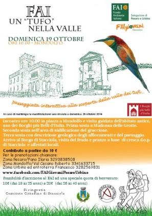 Passeggiata interattiva alla scoperta della Valle dei Tufi: a Mondolfo Domenica 19 ottobre