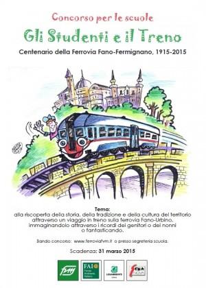 """Centenario Ferrovia Fano Fermignano: indetto il concorso """"Gli studenti e il treno"""""""