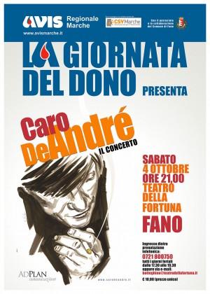 """Avis Marche celebra a Fano la """"Giornata del Dono"""" con concerto in ricordo di De André"""
