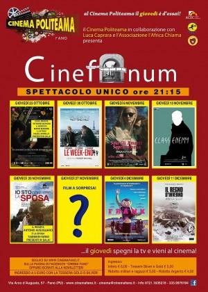 Riparte CINEFANUM, la Rassegna Cinematografica al Cinema Politeama