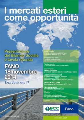 Fano, BCC domani presentazione Bilancio sociale ore 17 Sala Verdi